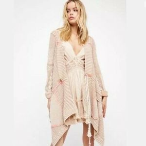 Free People All Washed Out Tan Waterfall Cardigan